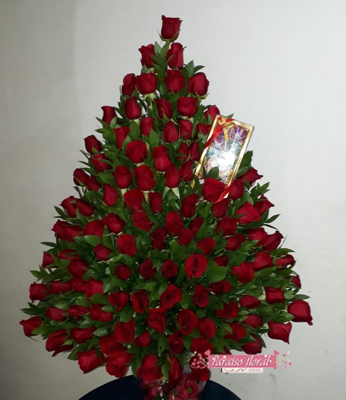 Arreglo Gigante Rosas Rojas