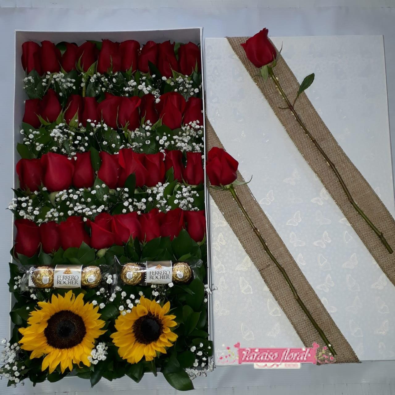 Caja Gigante Con Rosas Rojas